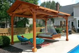 Roofing For Pergola by Wooden Pergola With Permanent Roofing Outdoor Pergola Roof