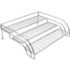 Shelf Organizer by Shelf Risers And Organizers Pantry Basket Corner Shelf