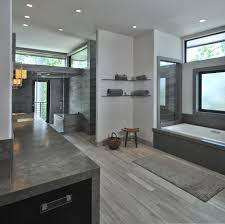 gray tile bathroom flooring concept custom home design