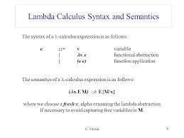 c varela1 lambda calculus alpha renaming beta reduction