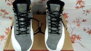 Gray And Gold Authentic Air Jordan 12 Cool Grey And Gold From Ivykicks Biz Youtube