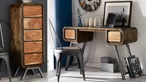 bureau bois recyclé bureau design en bois recyclé style industriel jason