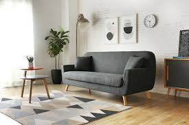 canapé nordique lena gris anthracite canapés scandinaves salon salle à manger