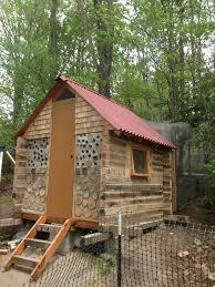log cabin cordwood coop backyard chickens