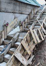 treppe betonieren eine tripp eine trapp eine treppe hier baut die jugendbewegung