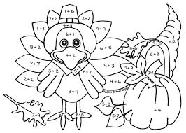 color by number math worksheets grade thanksgiving math free