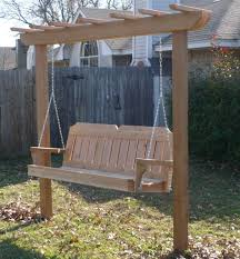 Patio Swing Chair With Stand by 4x4 Post Style Arbor Swing
