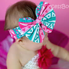 fabric headband coral fabric hair bow baby headband for