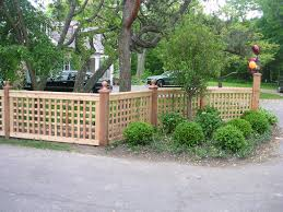 Front Garden Fence Ideas Garden Patio Low Lattice Fence Idea For Front Garden Regarding