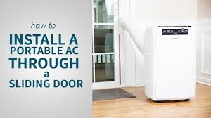 Air Conditioner For Living Room by How To Install A Portable Air Conditioner Through A Sliding Door