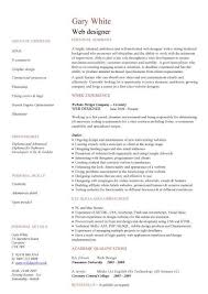 web design resume template web designer cv sample example job