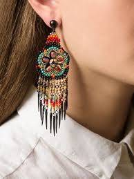 gas earrings lyst gas bijoux huichol earrings