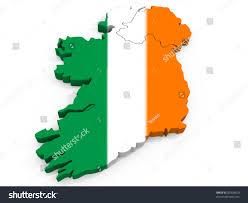 Irrland Flag Map Ireland Flag Republic Ireland Stockillustration 83398450