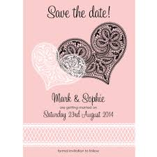 personalised wedding save the day invitations with two hearts