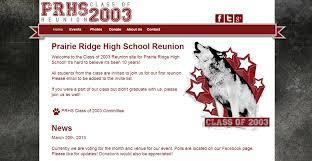 class reunions website high school reunion website jennie by design