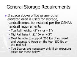 Handrail Requirements Osha Materials Handling Storage And Waste Disposal Ppt Video Online