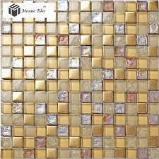 crystal glass mosaic tile iridescent golden glass tile bathroom