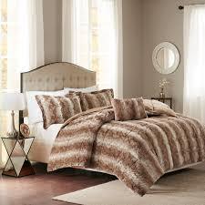 madison park zuri faux fur comforter set ebay