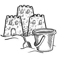 Sand Castle And A Beach Bucket Coloring Pages Best Place To Color Sandcastle Coloring Page