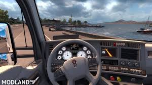 kenworth t680 white gauges interior mod for american truck