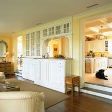 Kitchen Cabinet Top Molding by Kitchen Pass Through Living Room Traditional With Glass Front