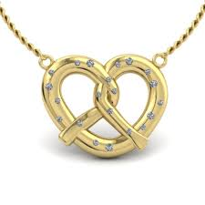 custom gold necklace custom gold pretzel necklace the goldsmiths ltd