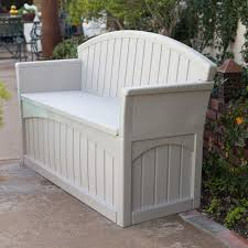 Outside Storage Bench Suncast Ultimate 50 Gallon Resin Patio Storage Bench Pb6700