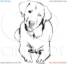 labrador retriever clipart therapy dog pencil and in color