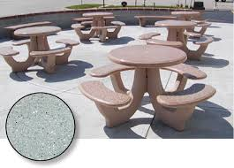 round cement picnic tables how to buy commercial picnic tables buyers guide barco products