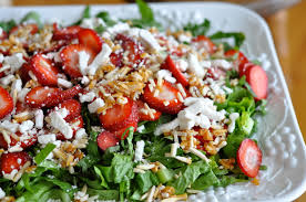 strawberry basil salad with white balsamic vinaigrette just pinch me