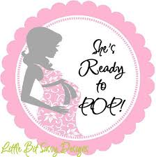 ready to pop baby shower labels 1038