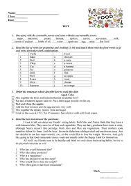 test food worksheet free esl printable worksheets made by teachers