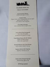 table d hote menu tonight s table d hote menu picture of lake louise station