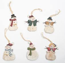 primitive snowman ornaments ornaments