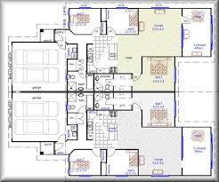 Duplex Plans With Garage 3 Bedroom Duplex With Double Garage Duplex Home Designs