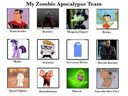 My Zombie Apocalypse Team Meme Creator - my zombie apocalypse team by thecrappymspainter23 on deviantart