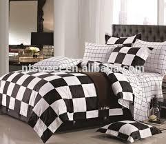 Plaid Bedding Set Black And White Plaid Bedding Set Simple Color Grid Bed Linen