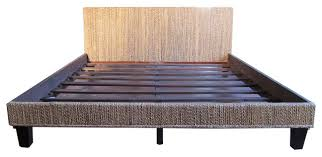 Panel Bed Frame Panel Bed Frame Panel Bed Frame Seagrass Woven Bed Frame King