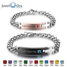 name link bracelet images Personalized birthstone engrave name bracelet lovers 39 bracelets jpg
