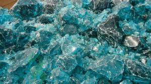 landscaping recycled natural green glass rocks for garden