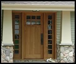 3 Panel Exterior Door Of Oak Workshop Authentic Craftsman Mission Style Doors