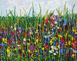 wild flowers in wild meadows flowers paintings byrosemary barton