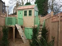 Wooden Backyard Playhouse Best 25 Wooden Outdoor Playhouse Ideas On Pinterest Wooden