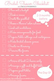 bridal shower checklist allfreediyweddings com