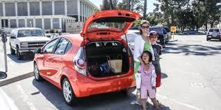 toyota prius luggage capacity prius c roadtrip features chic vegan