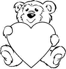 heart printable coloring pages teddy bear bears valentine