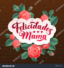 happy mothers day congratulations mother spanish stock vector