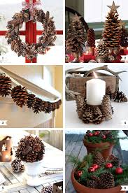 pine cone decoration ideas pine cone decor ideas for christmas chickabug