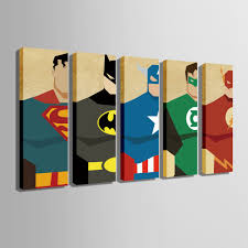 free shipping e home stretched canvas art super hero decoration