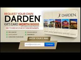 darden restaurants gift cards how to get free restaurant gift cards get a darden 1000 gift